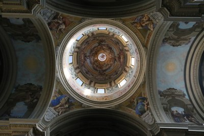 The frescoed dome