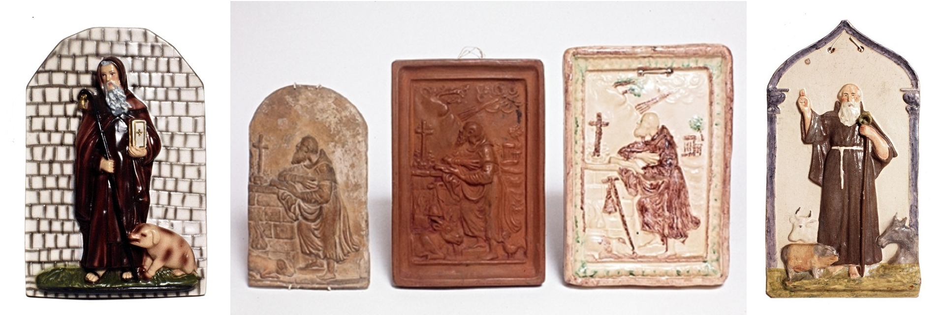 Collection of devotional ceramic objects