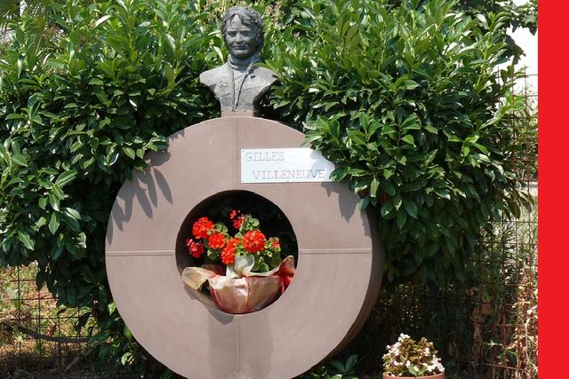 Monument to Gilles Villeneuve