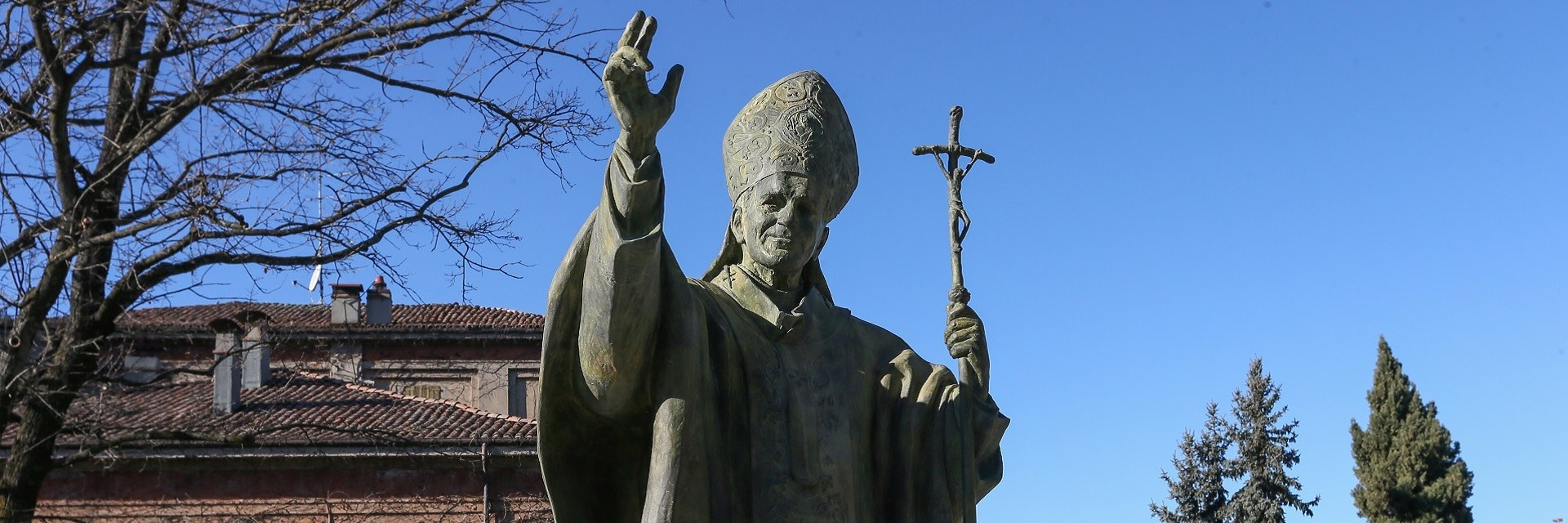 The statue of John Paul II